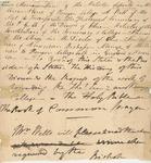 Memorandum of the Articles deposited in the cornerstone of Kenyon College