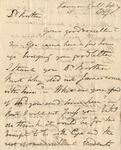 Letter to Dr. J. Denison