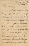 Letter to G. W. Marriott