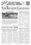 Kenyon Collegian - October 30, 2008