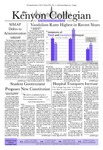 Kenyon Collegian - November 15, 2012