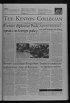 Kenyon Collegian - October 28, 2004