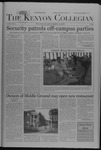 Kenyon Collegian - September 29, 2005