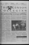 Kenyon Collegian - September 16, 1999
