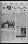Kenyon Collegian - September 23, 1999