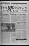 Kenyon Collegian - November 11, 1999