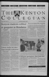 Kenyon Collegian - March 30, 2000