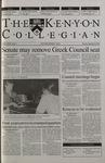 Kenyon Collegian - September 28, 2000