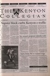 Kenyon Collegian - October 19, 2000