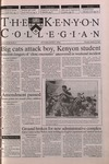Kenyon Collegian - October 26, 2000