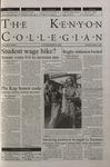 Kenyon Collegian - November 2, 2000