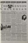 Kenyon Collegian - November 9, 2000