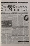 Kenyon Collegian - November 16, 2000