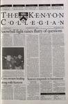 Kenyon Collegian - February 1, 2001