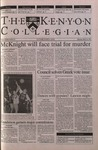 Kenyon Collegian - March 29, 2001