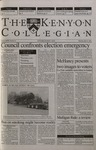 Kenyon Collegian - April 12, 2001