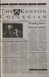 Kenyon Collegian - April 19, 2001