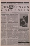 Kenyon Collegian - April 26, 2001