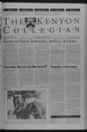 Kenyon Collegian - September 6, 2001