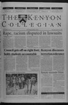 Kenyon Collegian - September 20, 2001