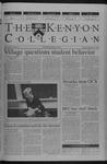 Kenyon Collegian - September 27, 2001