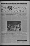 Kenyon Collegian - October 18, 2001
