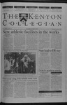 Kenyon Collegian - November 8, 2001