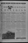 Kenyon Collegian - November 15, 2001
