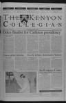 Kenyon Collegian - January 31, 2002