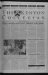 Kenyon Collegian - February 7, 2002