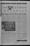Kenyon Collegian - February 21, 2002