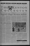 Kenyon Collegian - April 18, 2002
