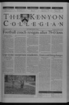 Kenyon Collegian - November 14, 2002