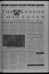 Kenyon Collegian - December 5, 2002