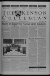 Kenyon Collegian - March 27, 2003