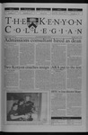 Kenyon Collegian - April 3, 2003