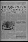 Kenyon Collegian - April 17, 2003