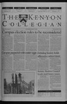 Kenyon Collegian - April 24, 2003