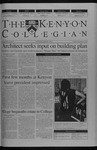 Kenyon Collegian - September 11, 2003