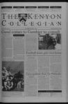 Kenyon Collegian - September 18, 2003