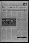 Kenyon Collegian - April 15, 2004