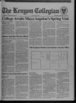 Kenyon Collegian - December 8, 1994