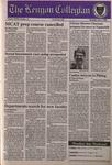 Kenyon Collegian - February 1, 1996