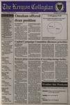 Kenyon Collegian - April 18, 1996