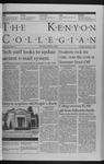 Kenyon Collegian - November 19, 1998