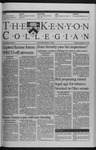 Kenyon Collegian - December 10, 1998