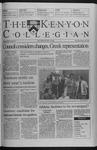 Kenyon Collegian - February 18, 1999