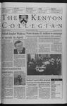 Kenyon Collegian - March 4, 1999