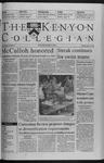 Kenyon Collegian - April 1, 1999
