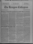 Kenyon Collegian - September 12, 1991